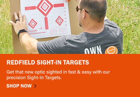 Man setting up a Redfield Sight-In Target