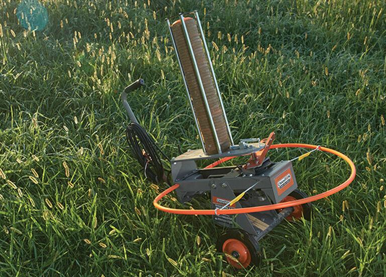 Champion WheelyBird Auto-Feed Trap 2.0 in field