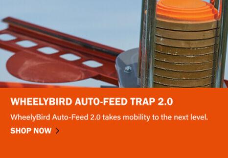 WheelyBird 2.0 launching a clay target
