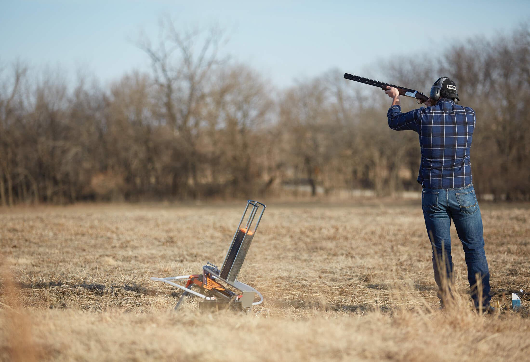 Man shooting Champion targets