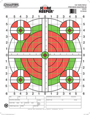Score Keeper® Fluorescent Orange & Green Bull Targets