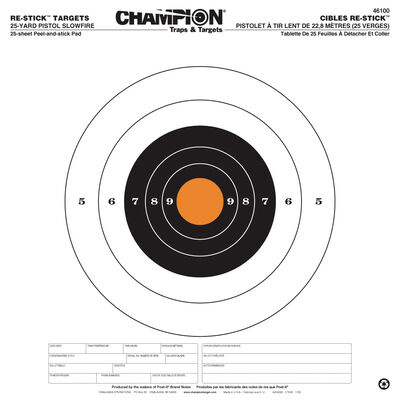 Re-Stick Targets