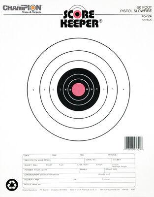 Score Keeper Fluorescent Orange & Black Bull Targets