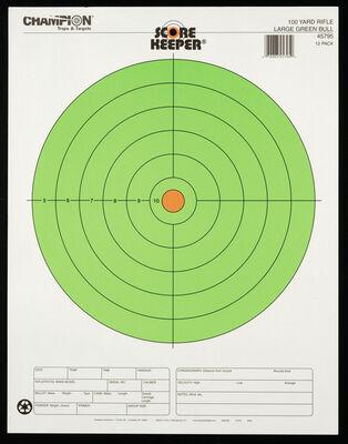 Score Keeper® Fluorescent Green Bull Targets