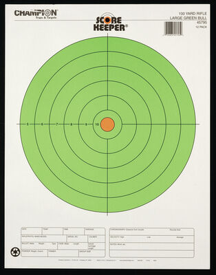 Score Keeper Fluorescent Green Bull Targets