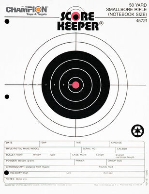 Score Keeper Fluorescent Orange & Black Bull Targets