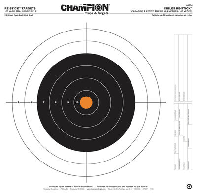Re-Stick Target 100yd Small Bore Rifle